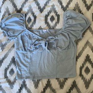 Garage Puffed Sleeve Crop Top